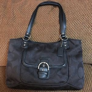 """COACH CAMPBELL """"Belle"""" Black Signature Carry All"""